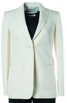 Valentino Women's Off White One Button-up Blazer.
