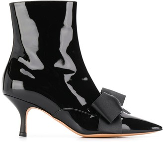 Rochas Bow Detail Ankle Boots