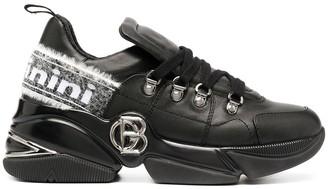 Baldinini Logo Plaque Low-Top Sneakers