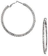 Cezanne Large Crystal Rhinestone Hoop Earrings