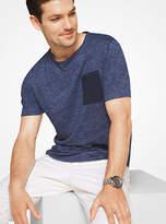 Michael Kors Patch Pocket Linen T-Shirt