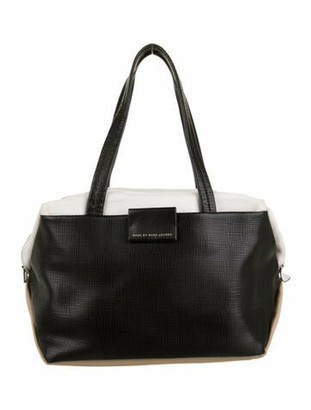 Marc by Marc Jacobs Leather Tricolor Shoulder Bag Black