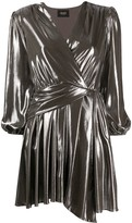 Liu Jo metallized wrap dress