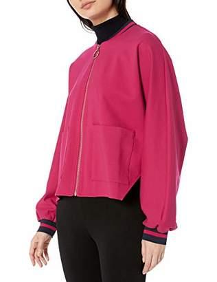 Armani Exchange A|X Women's Zipper Front Bomber Style Sweatshirt