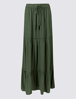 M&S Collection Drawstring A-Line Maxi skirt