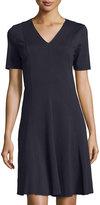 T Tahari Valencia Short-Sleeve A-line Dress, Stargazer