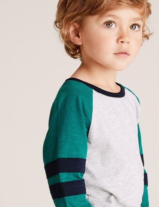 Marks and Spencer Cotton Rich Patterned Top (2-7 Yrs)