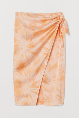 H&M Patterned wrapover skirt