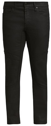 J Brand Coated Moto Skinny Jeans