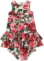 Dolce & Gabbana Roses Cotton Dress & Diaper Cover