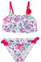 Betsey Johnson Floral Print Flounce 2-Piece Bikini (Toddler Girls)