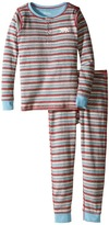 Hatley Icy Stripes Henley Pajama (Toddler/Little Kids/Big Kids)