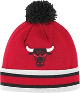 Chicago Bulls Mitchell & Ness NBA Vintage Jersey Stripe Cuffed Knit Hat w/ Pom