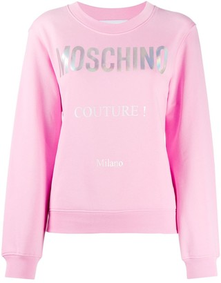 Moschino Printed Slogan Sweatshirt