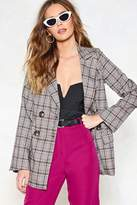 Nasty Gal Check Your Troubles at the Door Blazer
