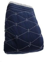 Martha Stewart Diamond Stitch Navy/white Reversible Standard Sham