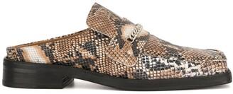Martine Rose snakeskin-effect backless slippers
