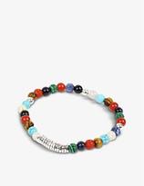 Tateossian Silver disc beaded bracelet