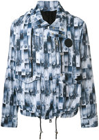 Versus Safety Pin printed jacket - men - Cotton/Polyamide/Polyester - 48