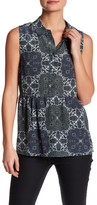 Equipment Hera Silk Sleeveless Printed Blouse