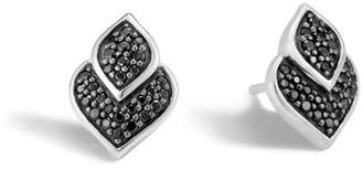 John Hardy Naga Stud Earring With Black Sapphire, Black Spinel
