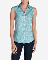 Eddie Bauer Women's Wrinkle-Free Sleeveless Shirt - Print