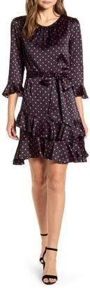 Cece By Cynthia Steffe Pop Dot Tiered Ruffle Fit & Flare Dress