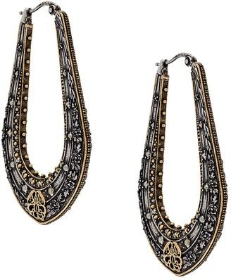 Alexander McQueen Engraved Long Earrings