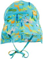 I Play Flap Sun Protection Hat (Baby/Toddler) - Aqua Jungle - 3-6 Months