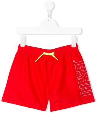 Diesel stitched logo swim shorts