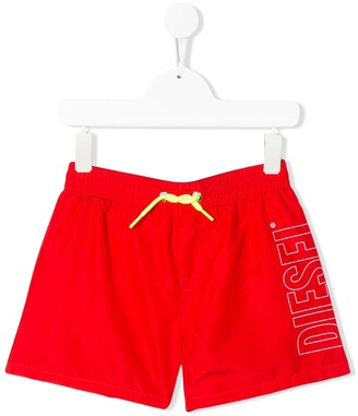 Diesel Stitched Logo Swim Shorts