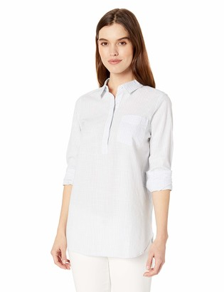 Daily Ritual Broken-in Cotton Relaxed Popover Shirt Button