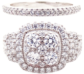 Cubic Zirconia & Sterling Silver Ring - Set of Two