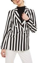 Topshop Women's Ella Stripe Suit Jacket