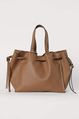 H&M Shoulder Bag with Drawstring - Beige