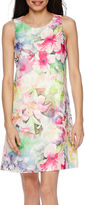 Donna Ricco DR Collection Sleeveless Floral Sheath Dress - Petite