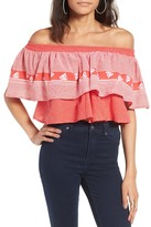 Faithfull The Brand Sundown Off the Shoulder Crop Top