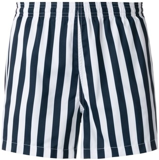 Ron Dorff striped swim shorts