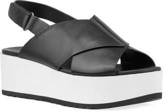 Vince Jenaya Chunky-Heel Leather Sandals