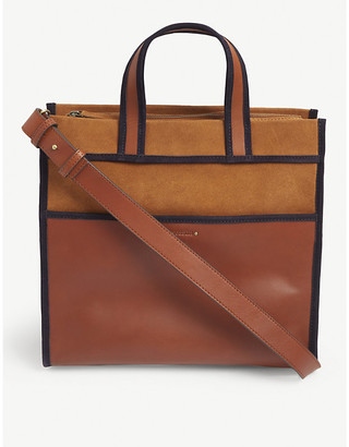 Sessun Lester suede and leather shopper bag