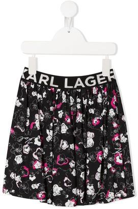 Karl Lagerfeld Paris Floral Shift Skirt