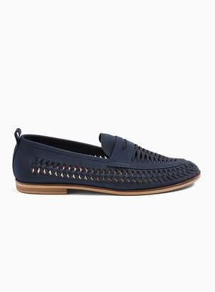 TopmanTopman Navy Nubuck Farrier Weave Loafers