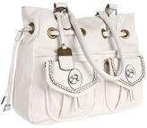 Jessica Simpson Emma Draw Tote (Ant White) - Bags and Luggage