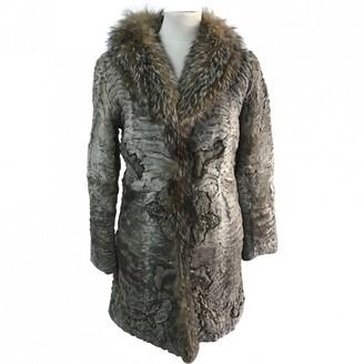 Prada Grey Astrakhan Coat for Women Vintage