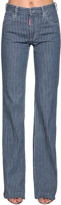 DSQUARED2 Camilla Striped Flared Denim Jeans
