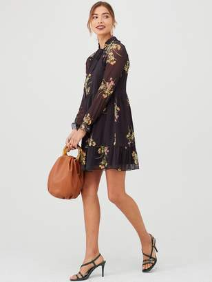 Very Mesh Tiered Mini Dress - Floral
