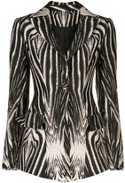 Christian Siriano zebra print blazer