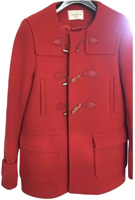 Sandro Red Wool Coats
