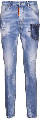 DSQUARED2 Cool Guy Front Patched Pocket Jeans