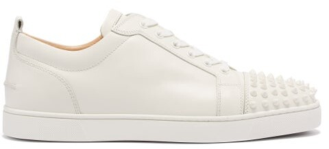 4b2da8afdca Louis Junior Spike Embellished Leather Trainers - Mens - White